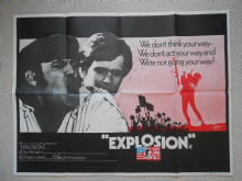 Explosion (1969) Don Stroud  Film Poster - UK Quad